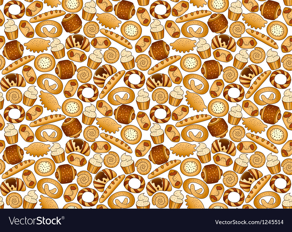 Bakery foodstuffs set on a white background vector | Price: 1 Credit (USD $1)
