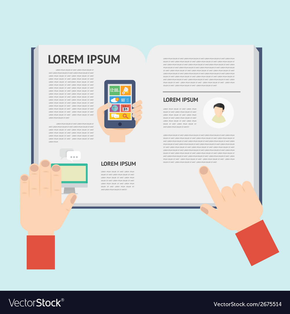 Element of newspaper in flat design vector | Price: 1 Credit (USD $1)
