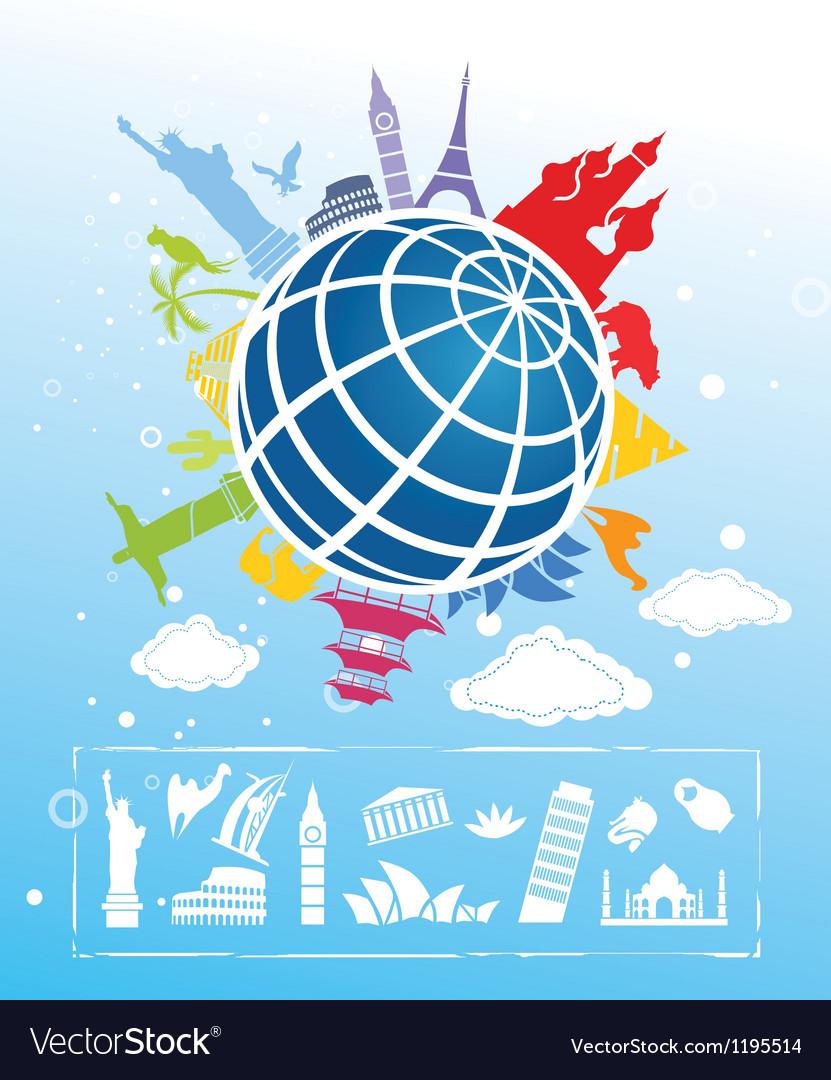 Landmarks around the world vector   Price: 1 Credit (USD $1)