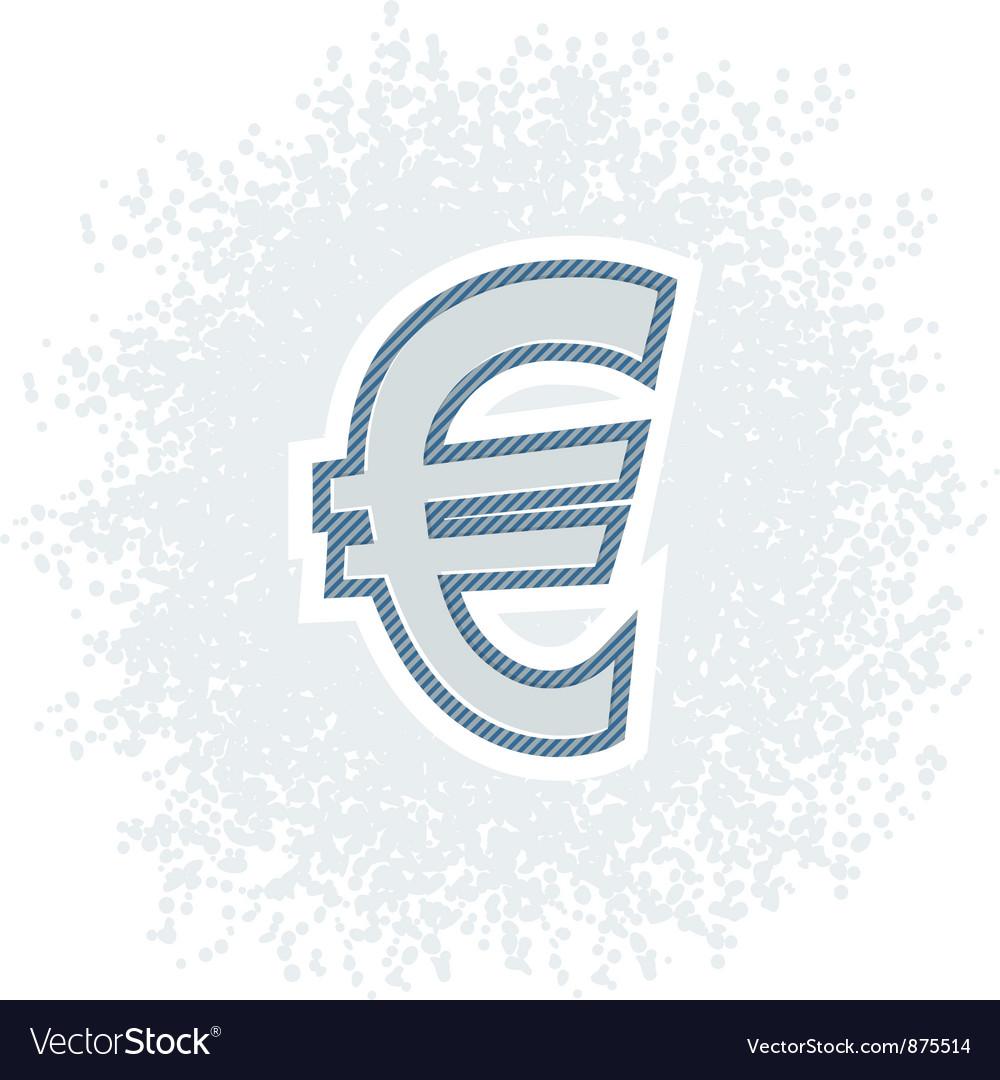Retro euro icon vector | Price: 1 Credit (USD $1)