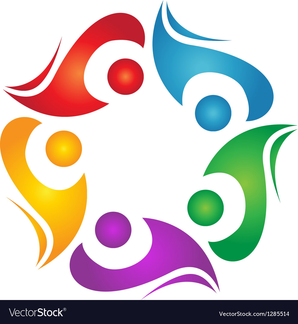 Teamwork diversity logo vector | Price: 1 Credit (USD $1)