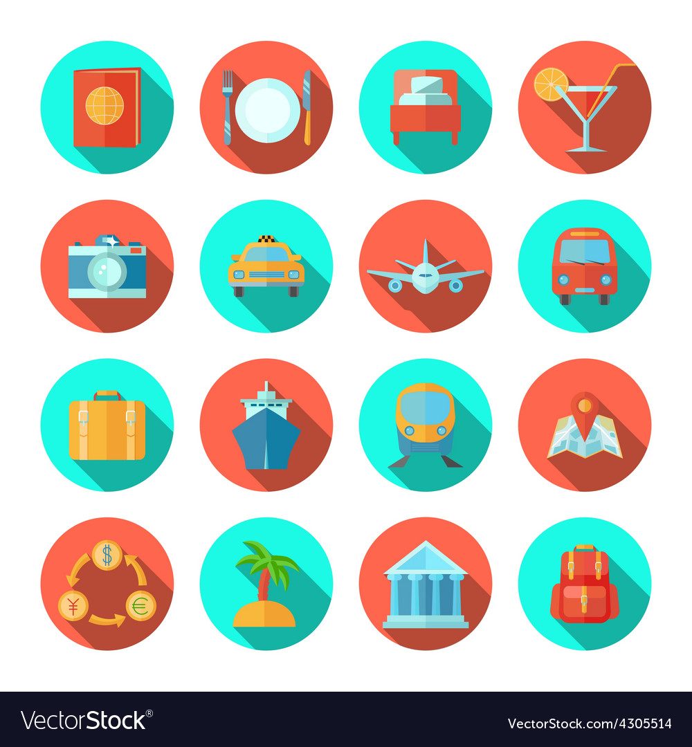 Travel icon flat vector | Price: 1 Credit (USD $1)