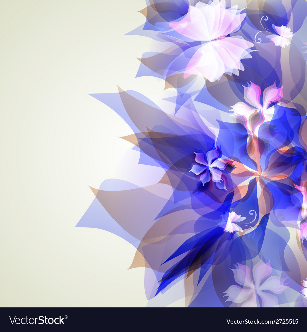 Abstract artistic background with blue floral vector | Price: 1 Credit (USD $1)