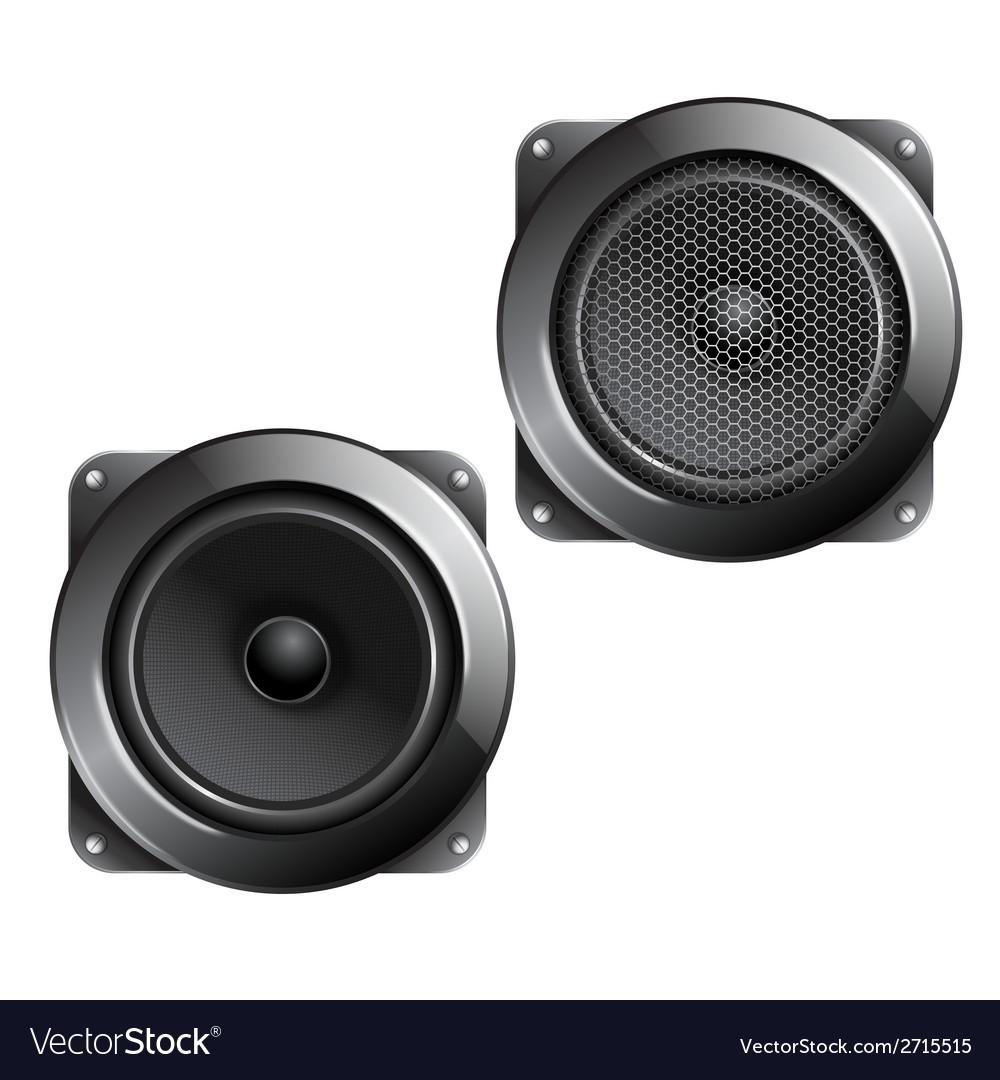 Audio speaker isolated vector | Price: 1 Credit (USD $1)