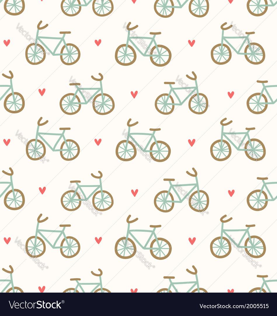 Cartoon bicycles pattern vector | Price: 1 Credit (USD $1)