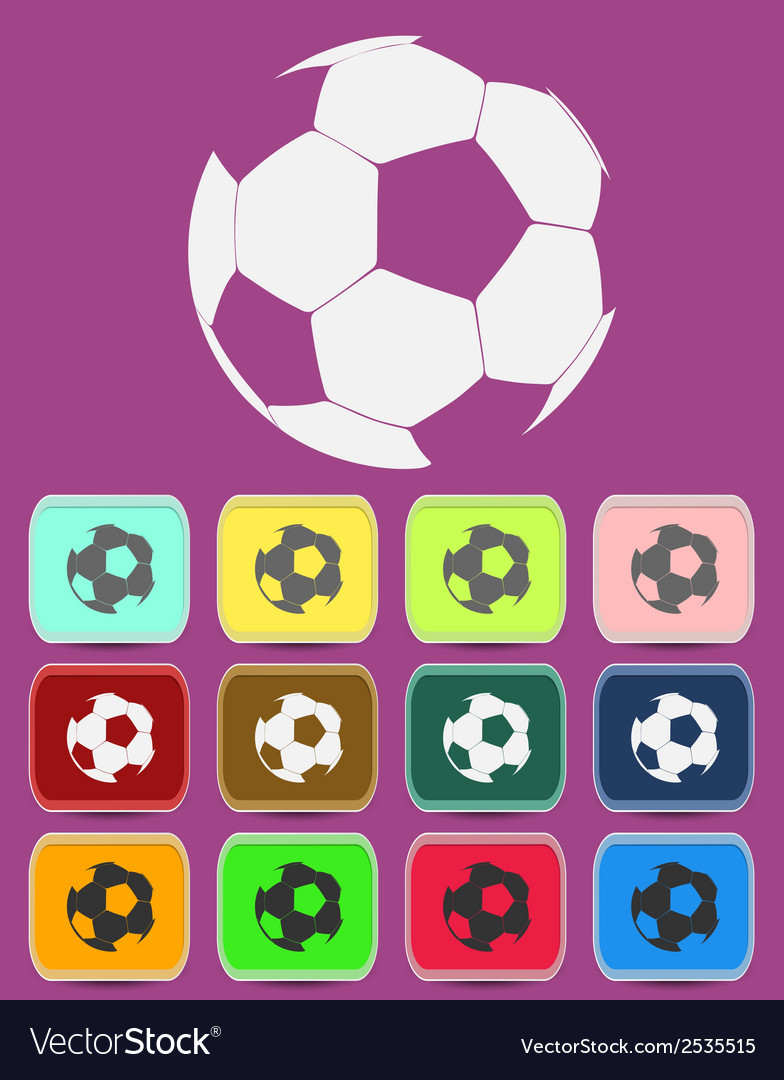 Creative soccer ball icon vector | Price: 1 Credit (USD $1)