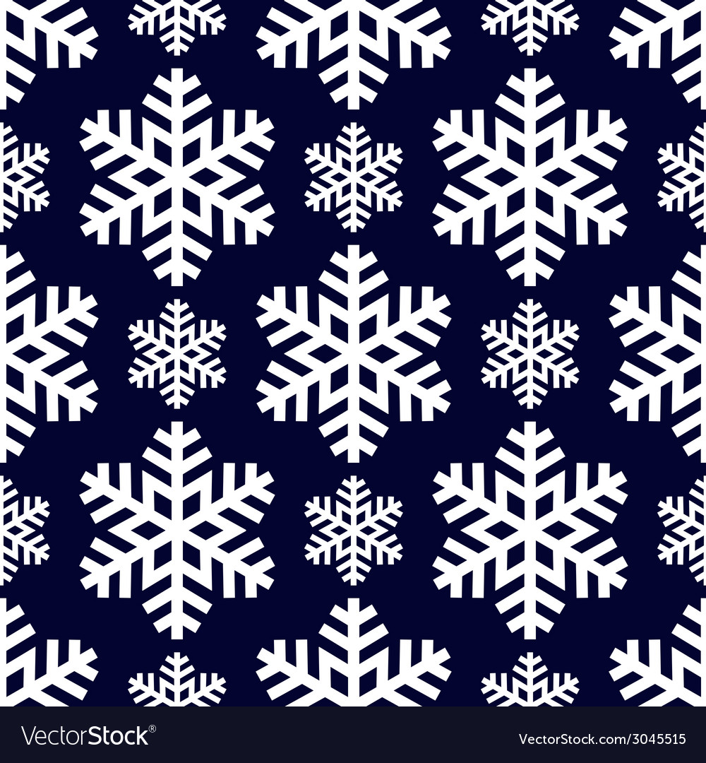 Decorative abstract snowflake seamless vector | Price: 1 Credit (USD $1)