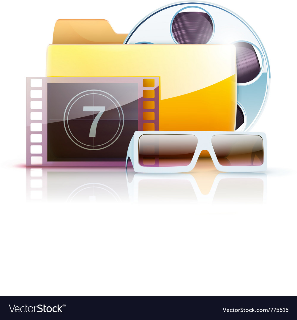 Digital video folder vector | Price: 3 Credit (USD $3)