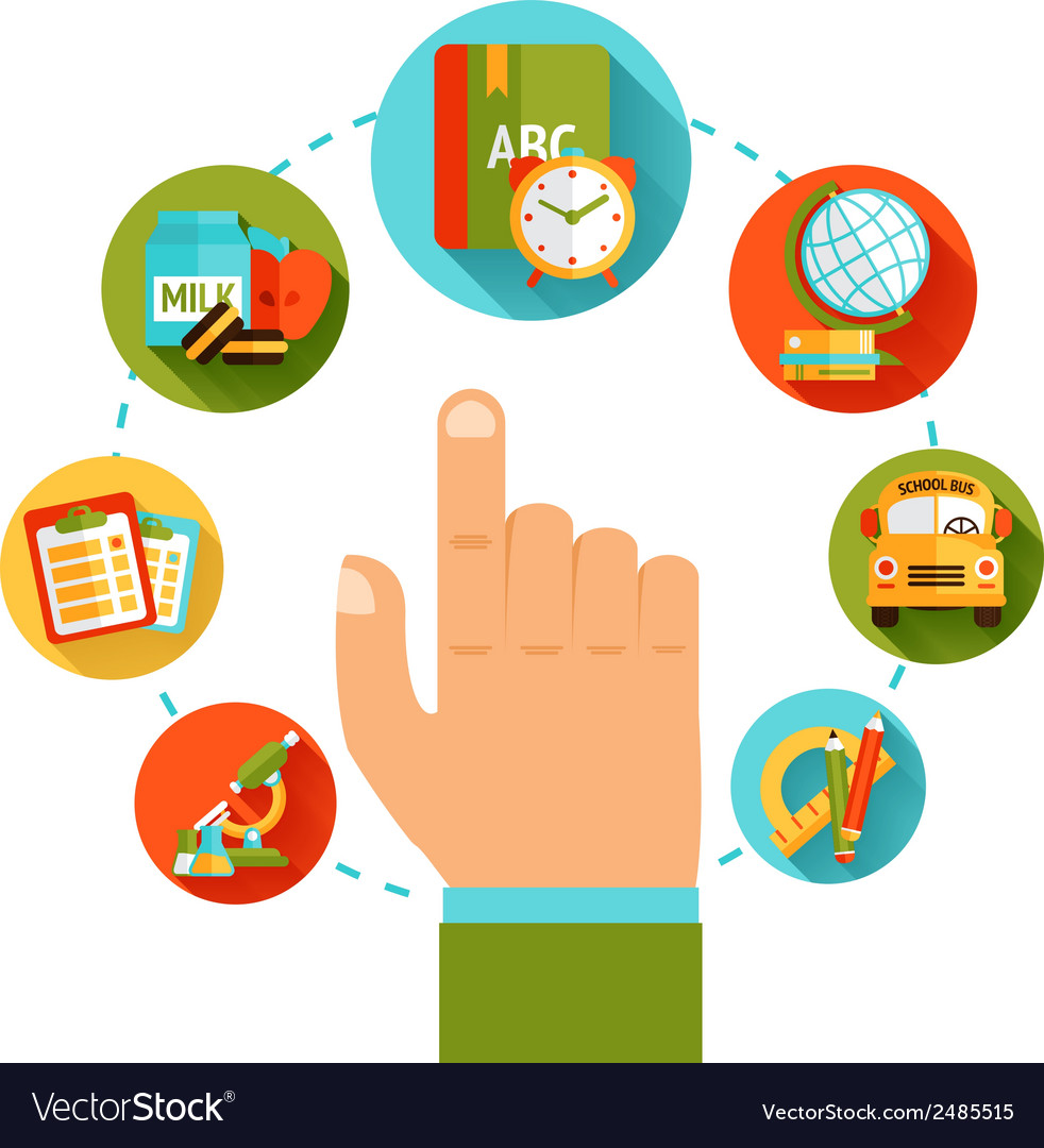Education hand concept vector | Price: 1 Credit (USD $1)