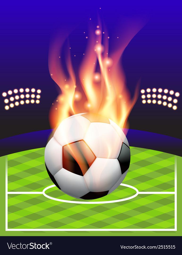 Fire soccer field vector