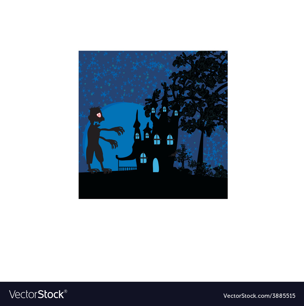 Haunted house vector | Price: 1 Credit (USD $1)
