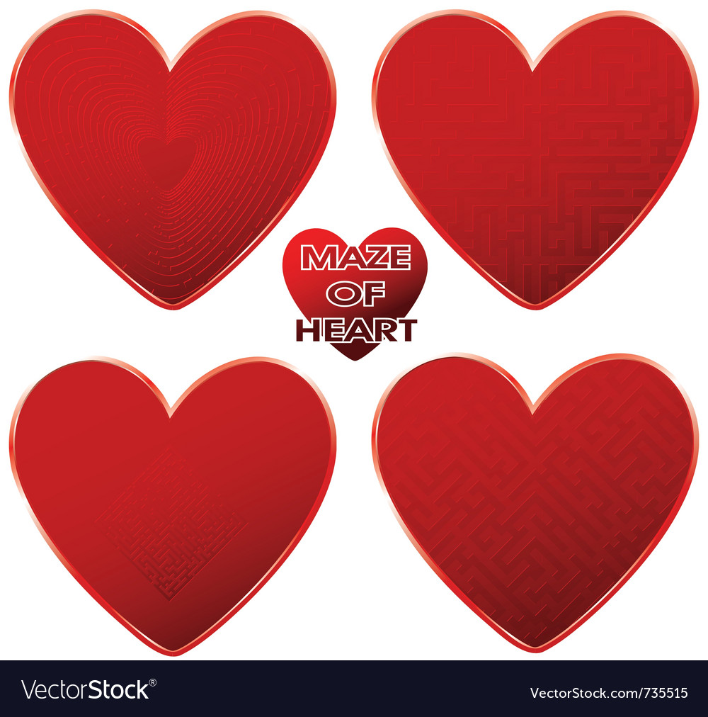 Heart red maze vector | Price: 1 Credit (USD $1)