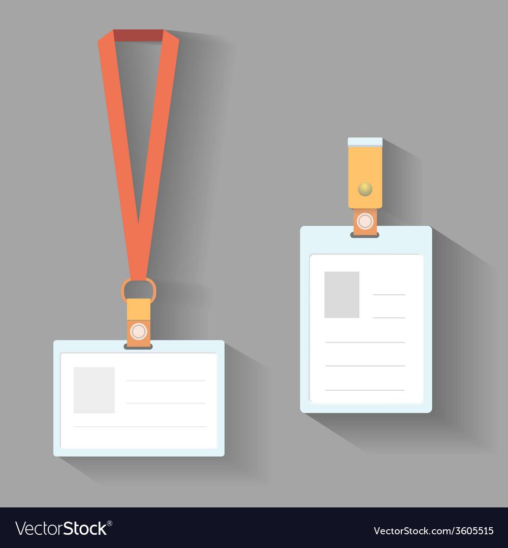 Lanyard badges flat design vector | Price: 1 Credit (USD $1)