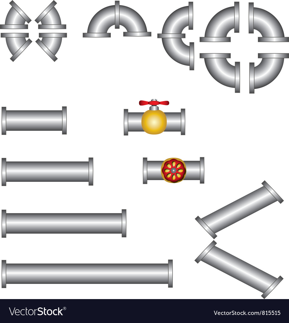 Pipes plumbing set vector   Price: 1 Credit (USD $1)