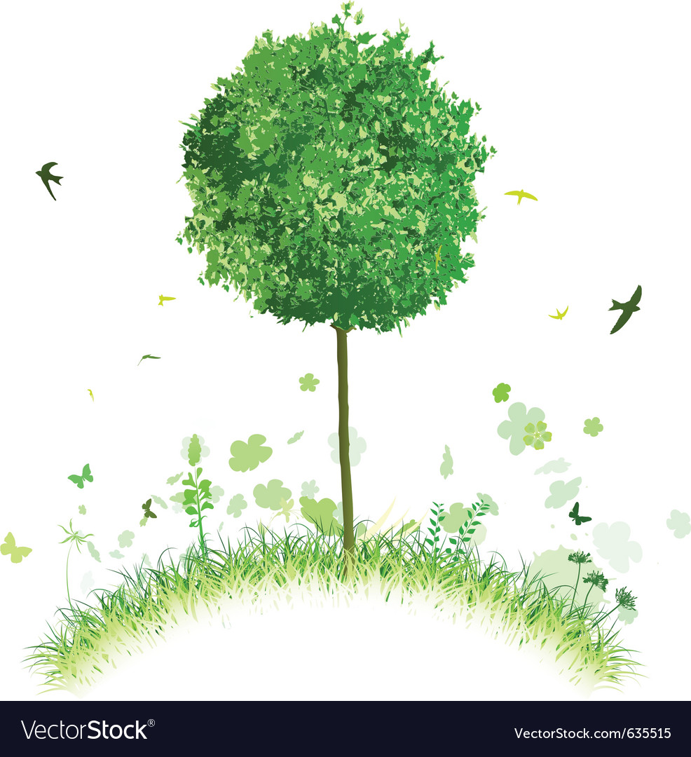 Single tree vector | Price: 1 Credit (USD $1)