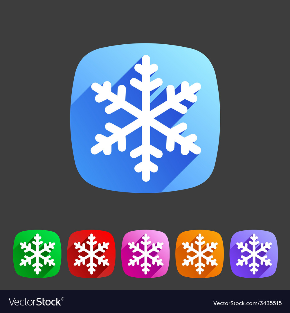 Snowflake flat icon vector   Price: 1 Credit (USD $1)