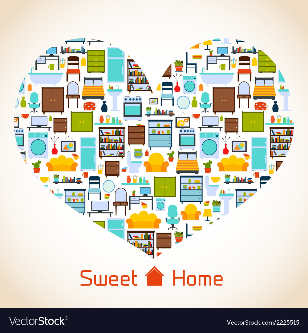 Sweet home heart concept vector | Price: 1 Credit (USD $1)