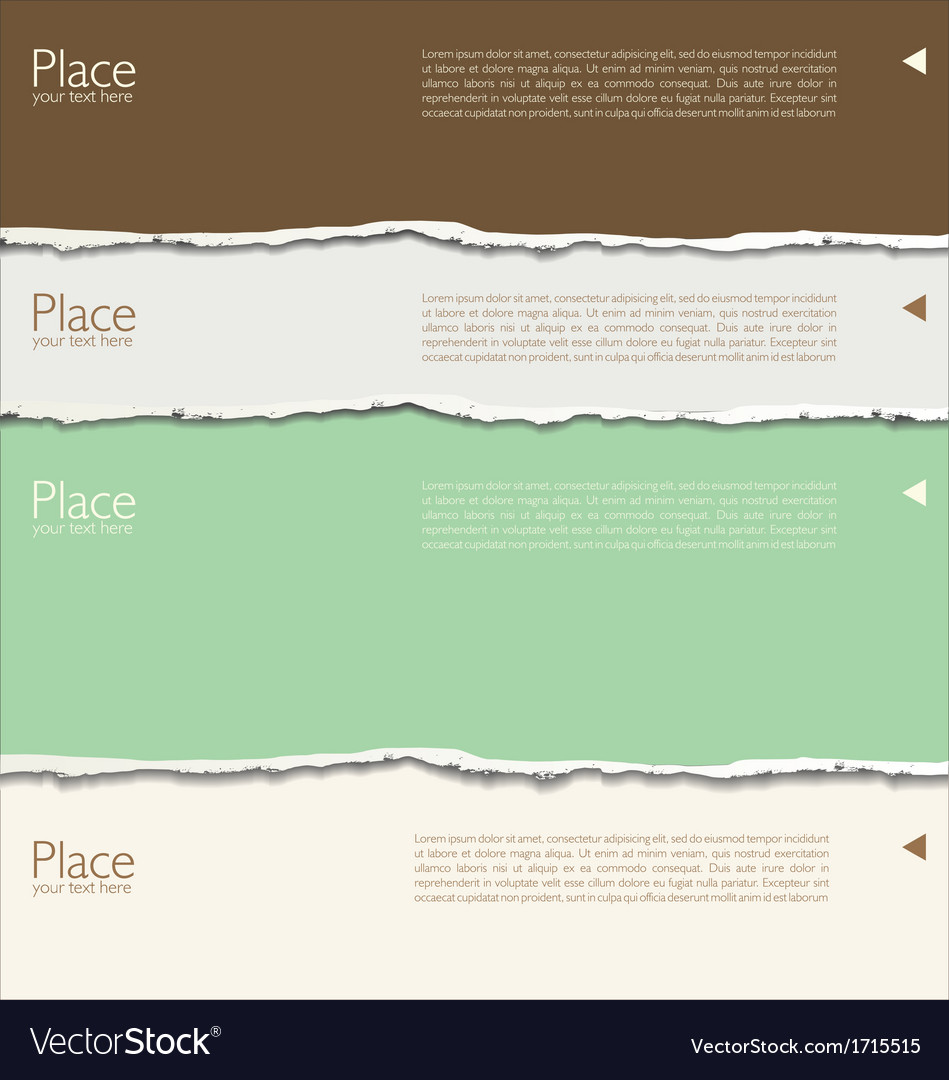 Torn paper background with space for text vector | Price: 1 Credit (USD $1)