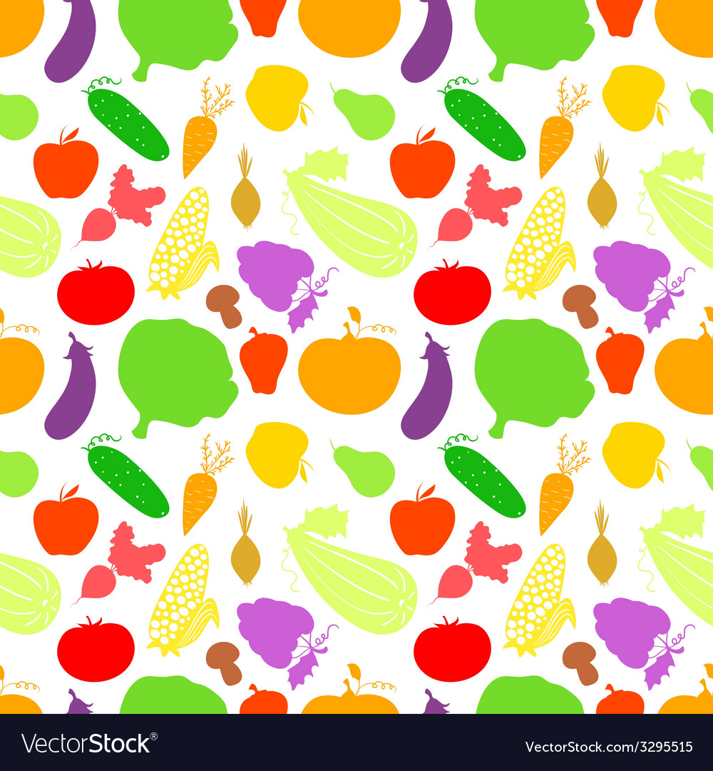 Vegetables seamless pattern light background with vector | Price: 1 Credit (USD $1)