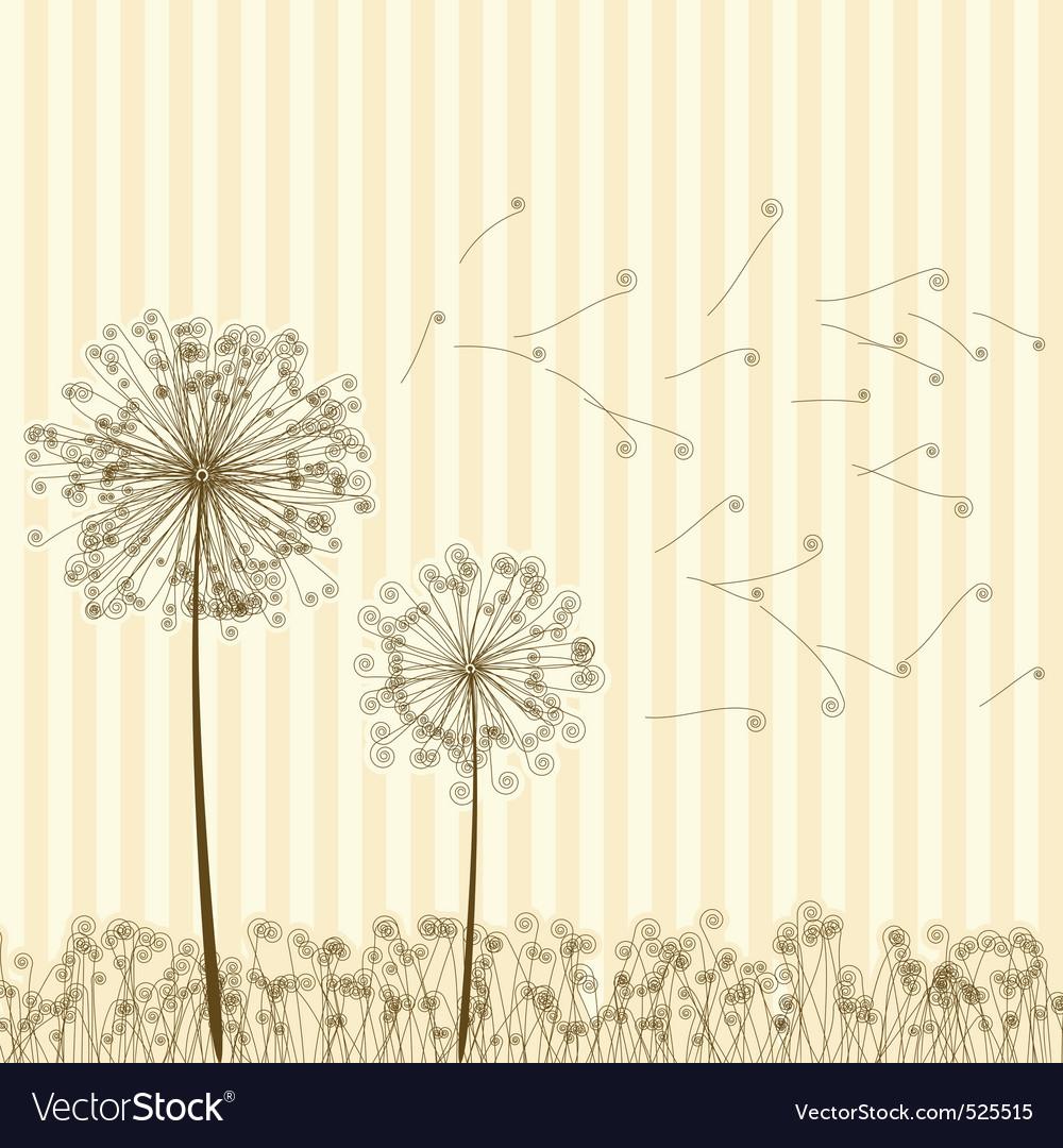 Vintage dandelions vector | Price: 1 Credit (USD $1)