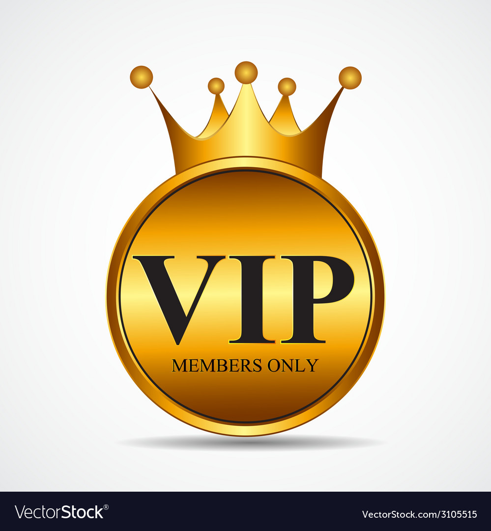 Vip members only gold sign label template vector | Price: 1 Credit (USD $1)