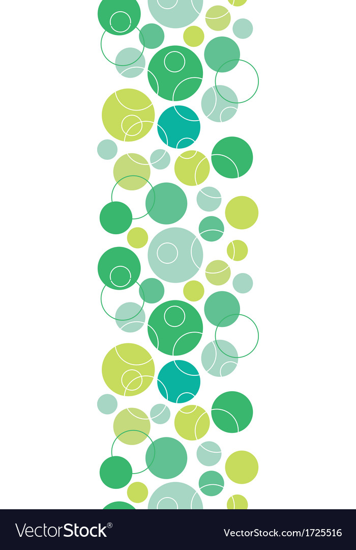 Abstract green circles seamless pattern background vector | Price: 1 Credit (USD $1)