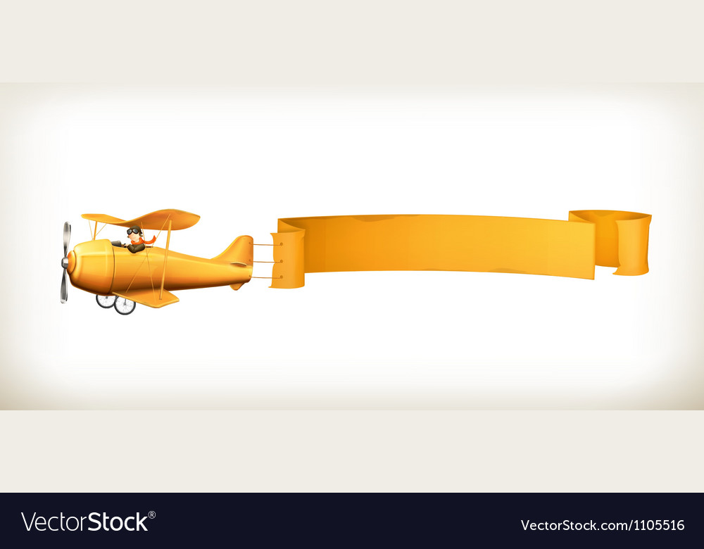 Aircraft banner vector | Price: 3 Credit (USD $3)