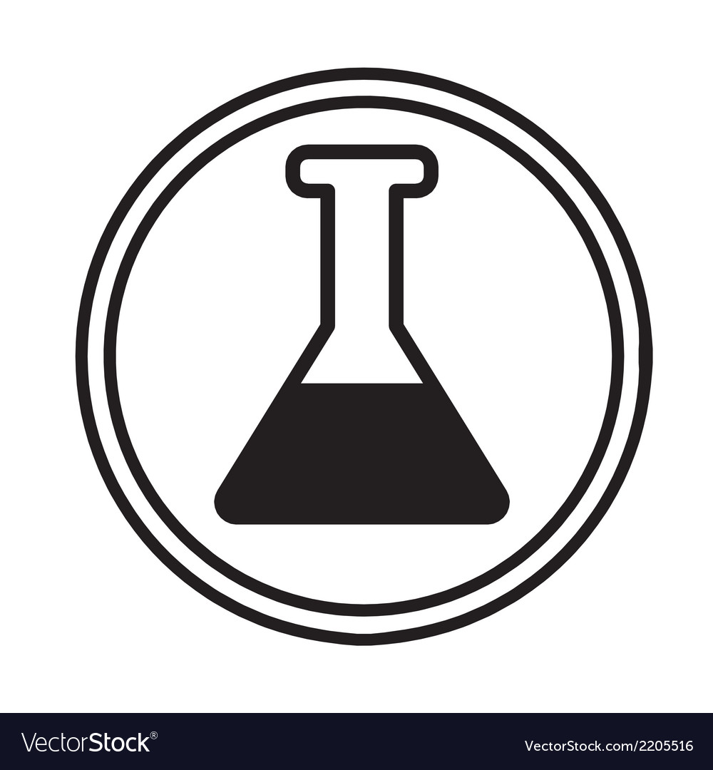 Chemical glassware symbol icon vector | Price: 1 Credit (USD $1)