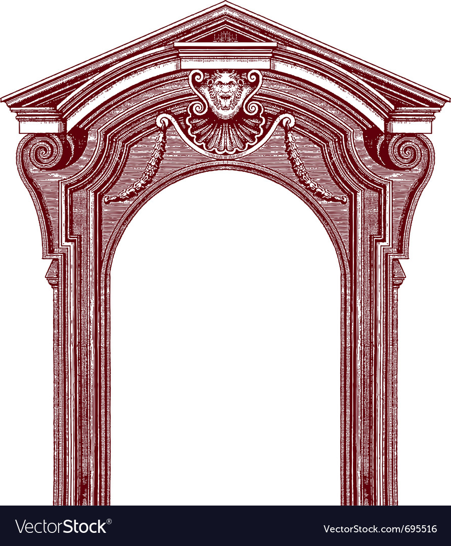 Classic door vector | Price: 1 Credit (USD $1)