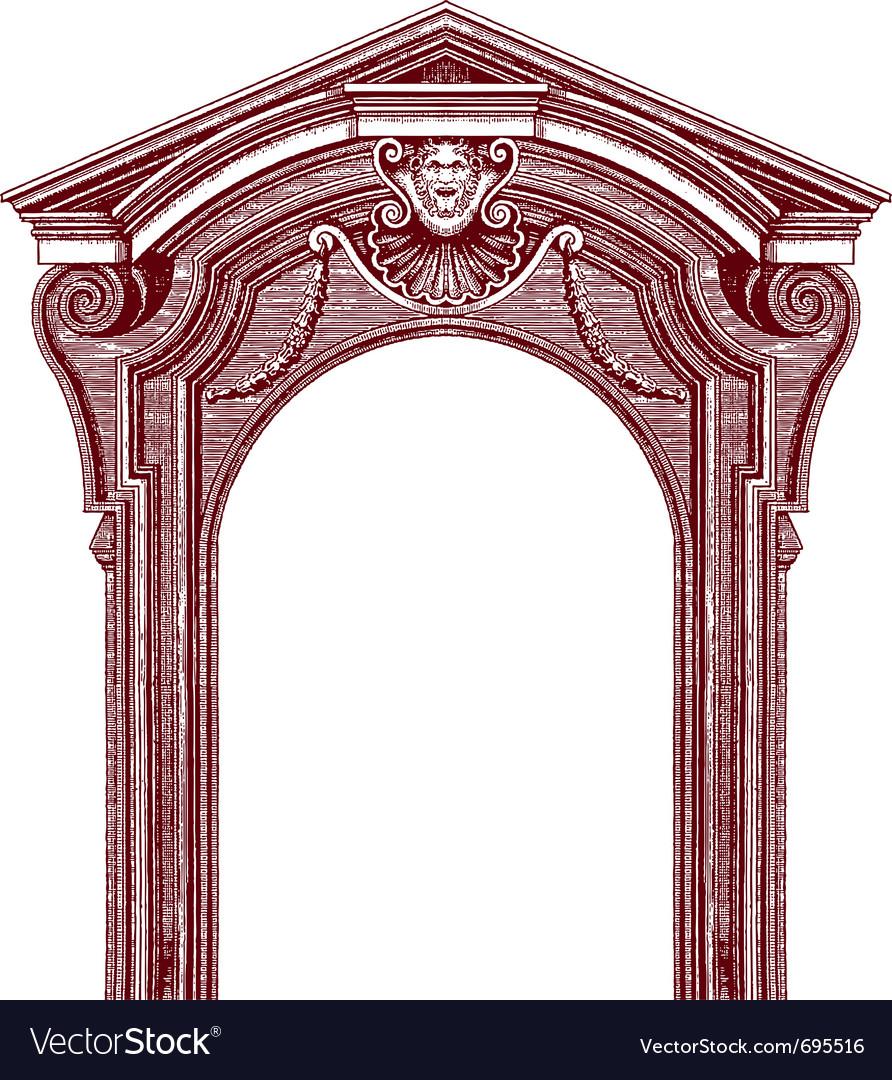 Classic door vector | Price: 1 Credit (USD $1)
