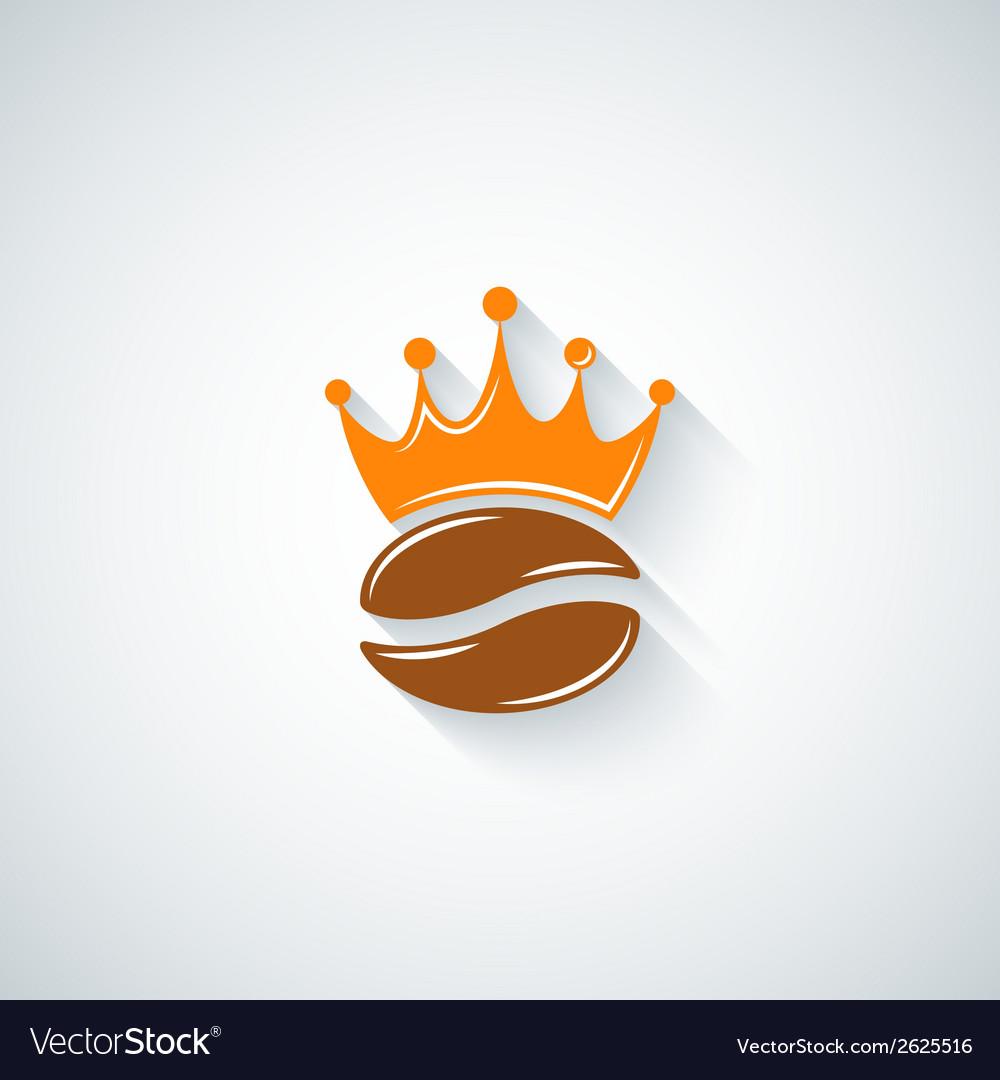 Coffee bean crown menu background vector | Price: 1 Credit (USD $1)