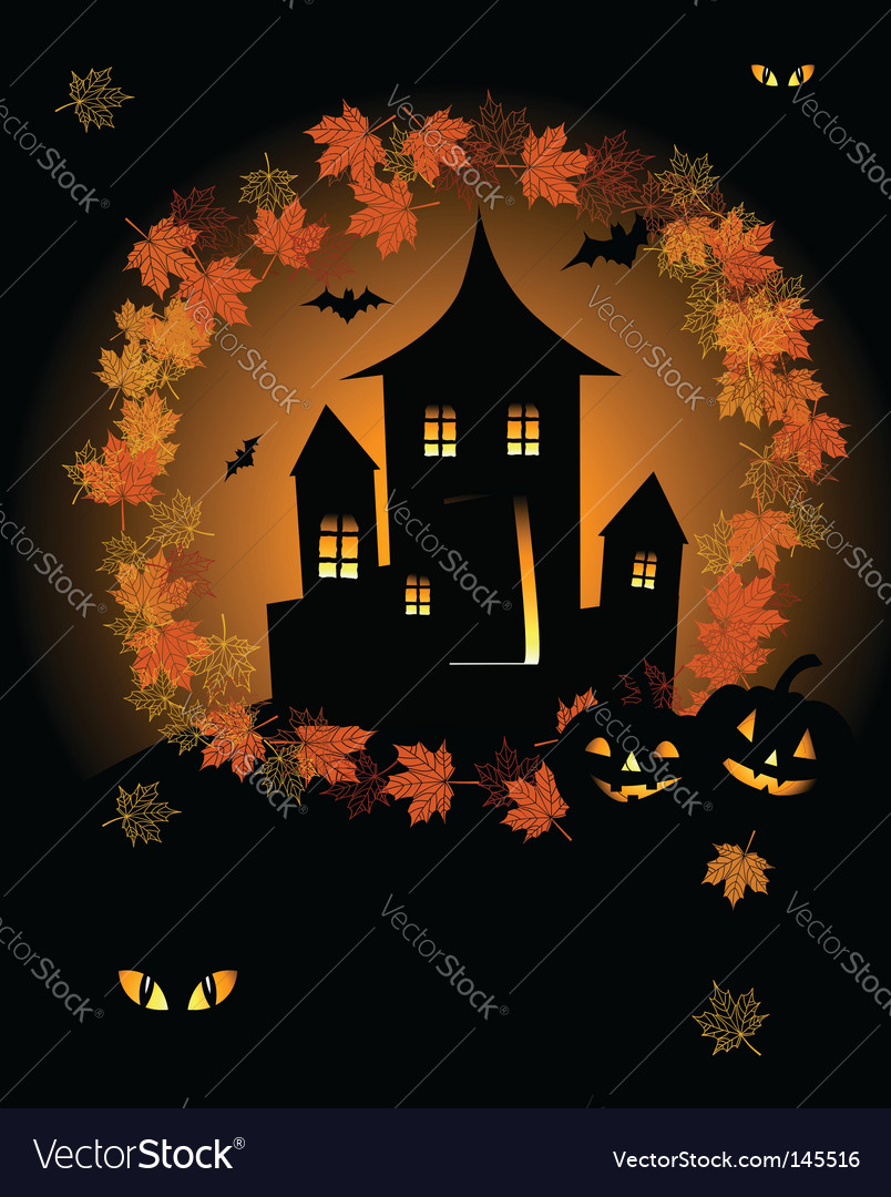 Halloween house vector | Price: 1 Credit (USD $1)