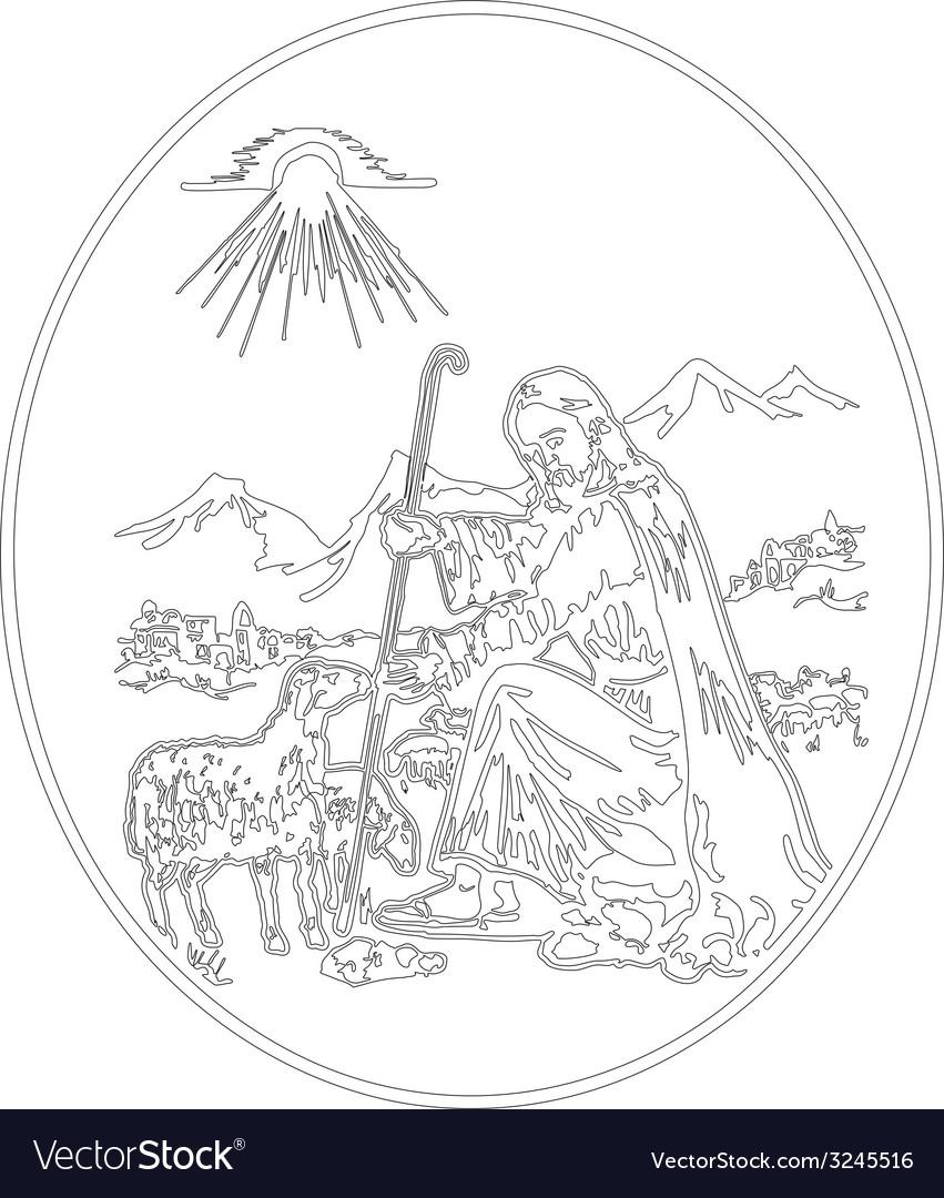Jesus the shepherd vector   Price: 1 Credit (USD $1)