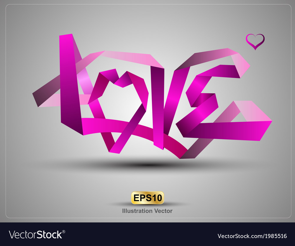Love origami vector | Price: 1 Credit (USD $1)