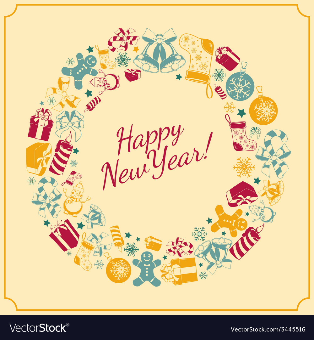 New year holiday background vector | Price: 1 Credit (USD $1)
