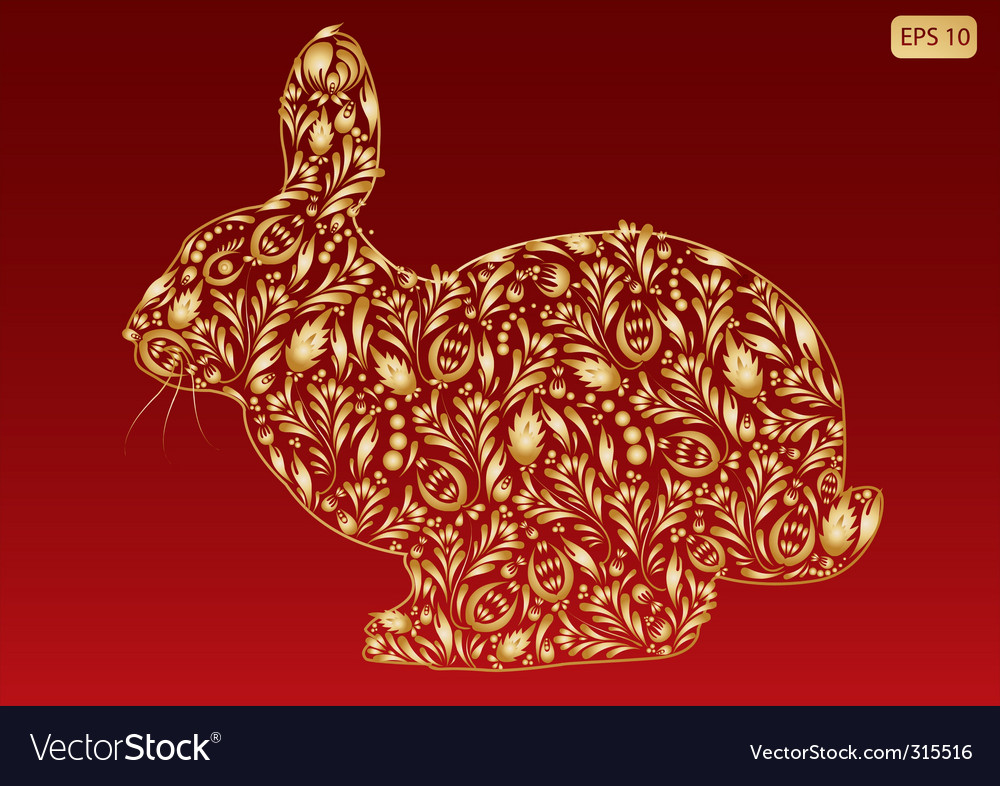 New year rabbit vector | Price: 1 Credit (USD $1)
