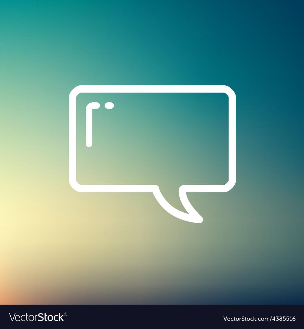 Speech bubble thin line icon vector   Price: 1 Credit (USD $1)