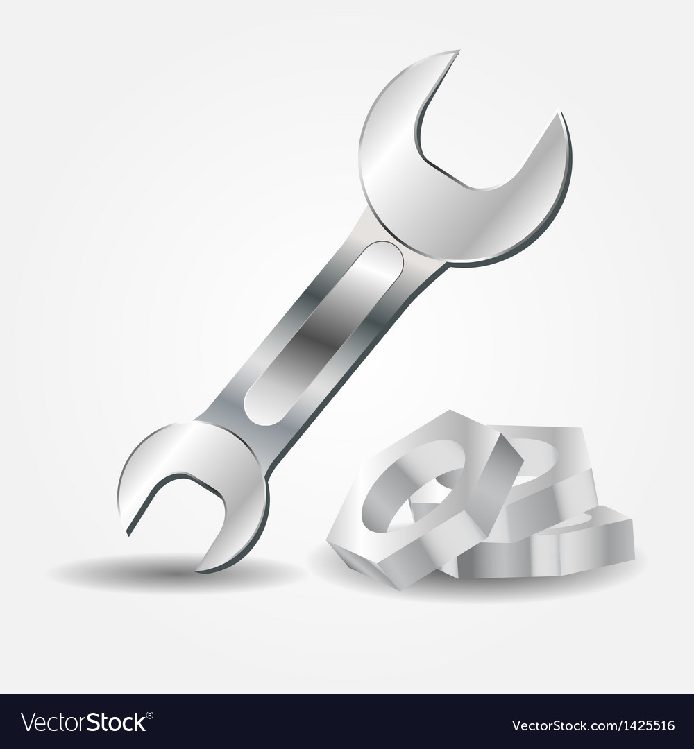Wrench and screw-nut icon vector | Price: 1 Credit (USD $1)