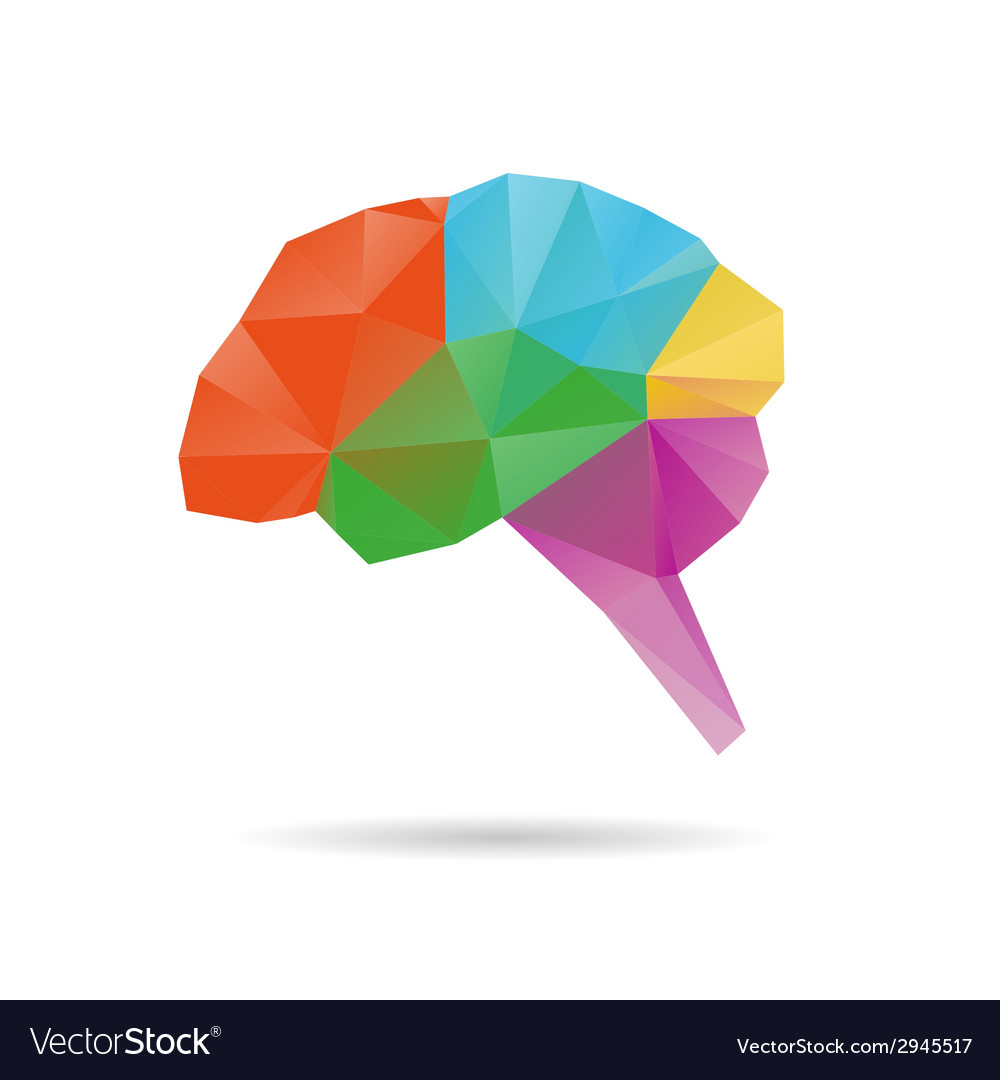 Brain abstract isolated on a white vector | Price: 1 Credit (USD $1)