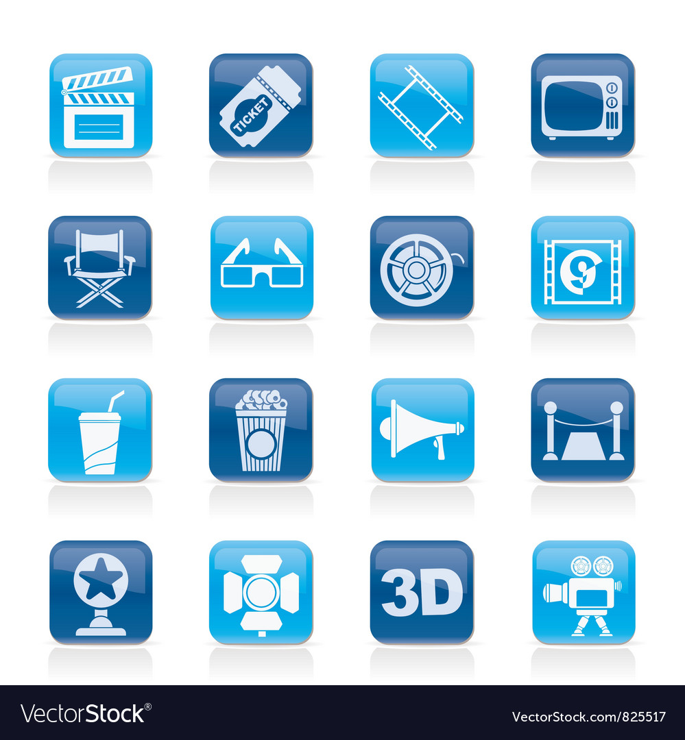 Cinema and movie icons vector   Price: 1 Credit (USD $1)
