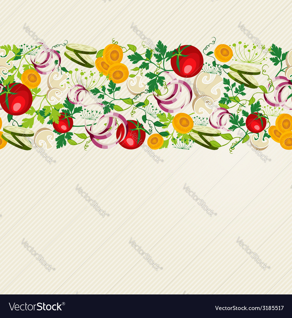 Healthy organic food pattern vector | Price: 1 Credit (USD $1)