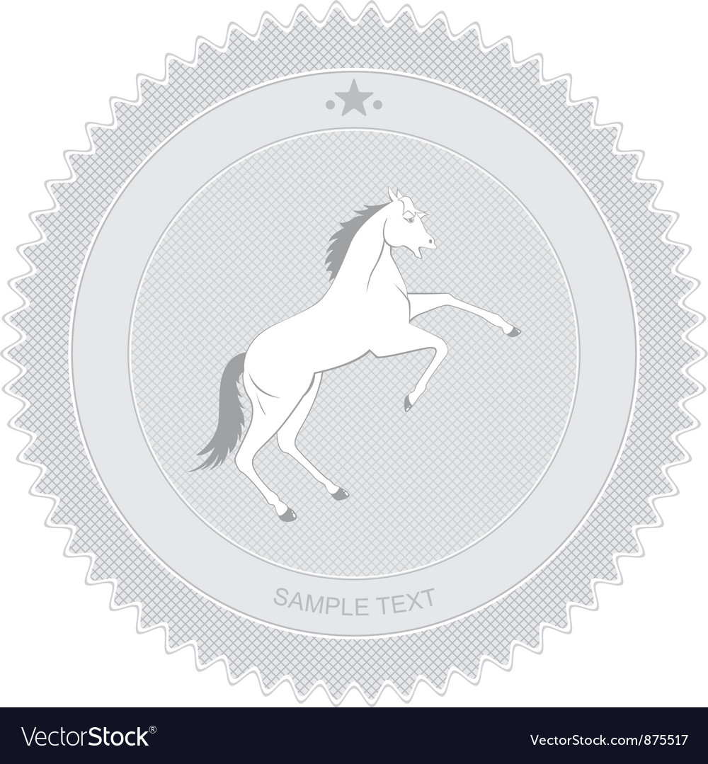 Horse badge vector | Price: 1 Credit (USD $1)