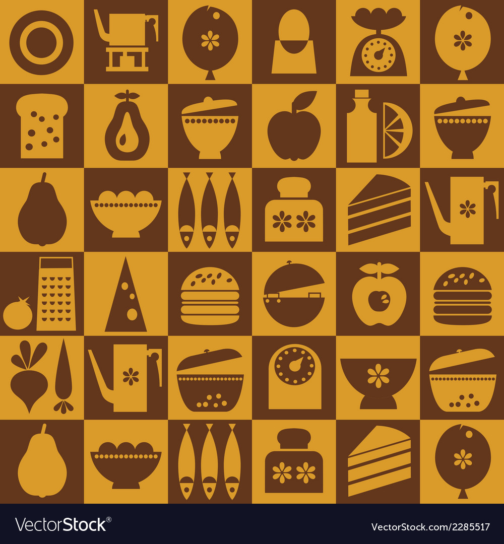 Kitchenware seamless vector | Price: 1 Credit (USD $1)