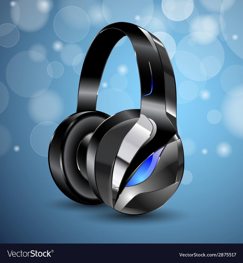 Modern big headphones vector | Price: 1 Credit (USD $1)