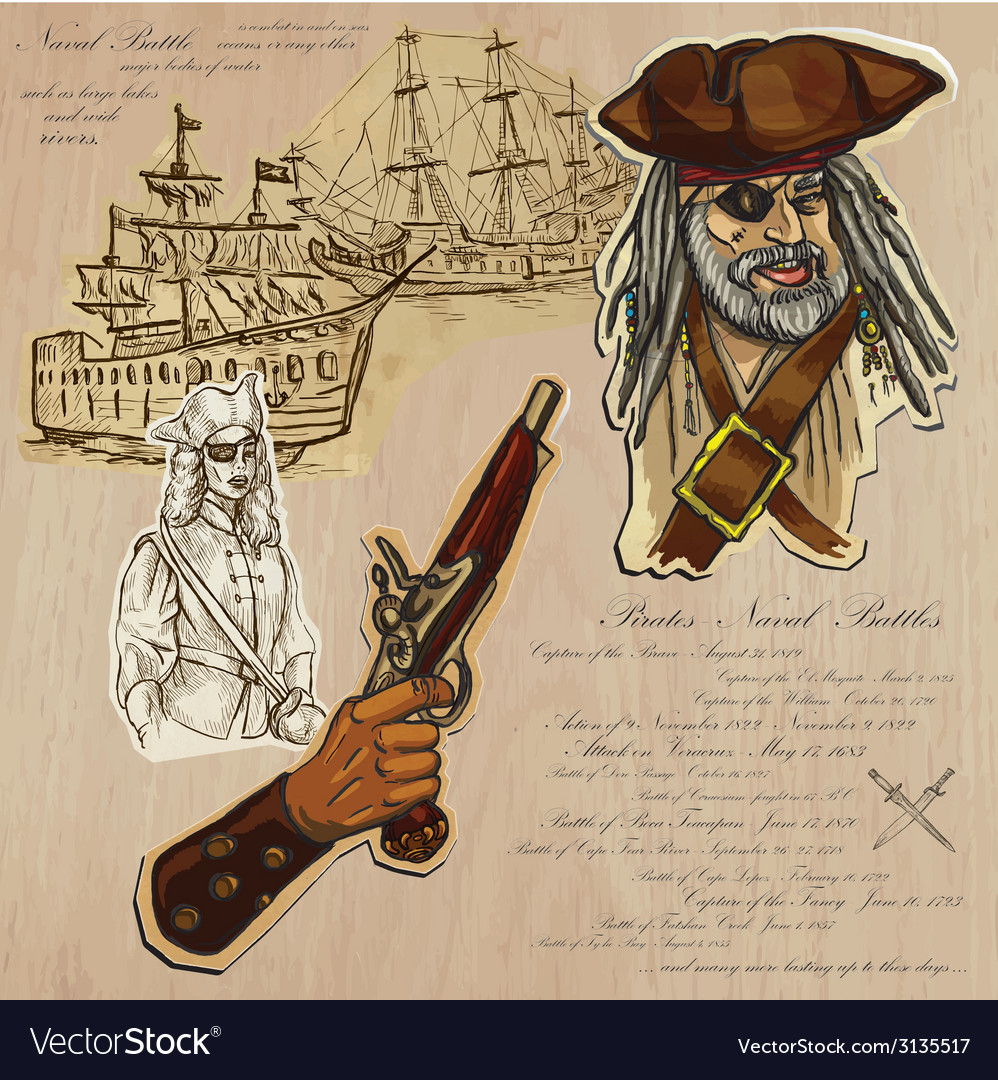 Pirates - naval battles vector | Price: 1 Credit (USD $1)