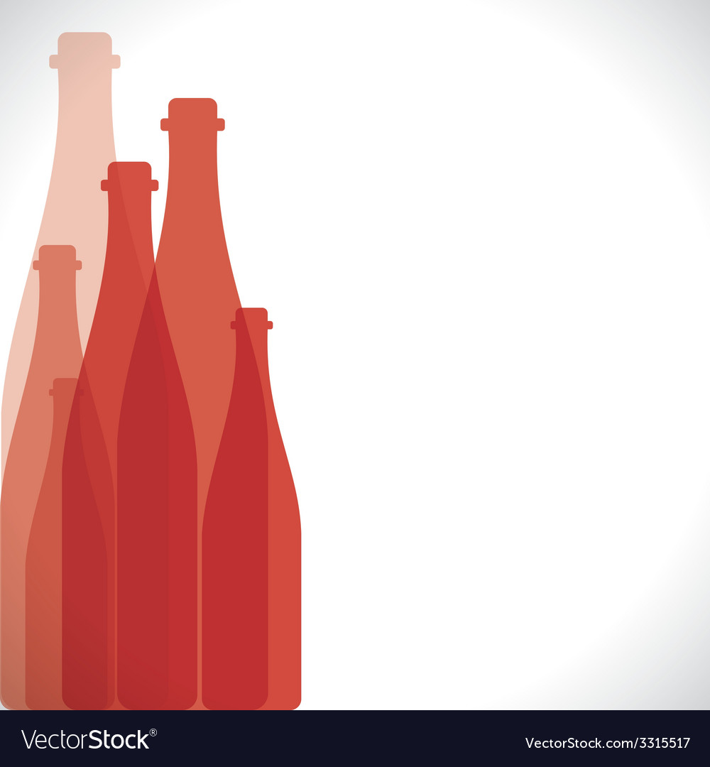 Red bottle background vector | Price: 1 Credit (USD $1)