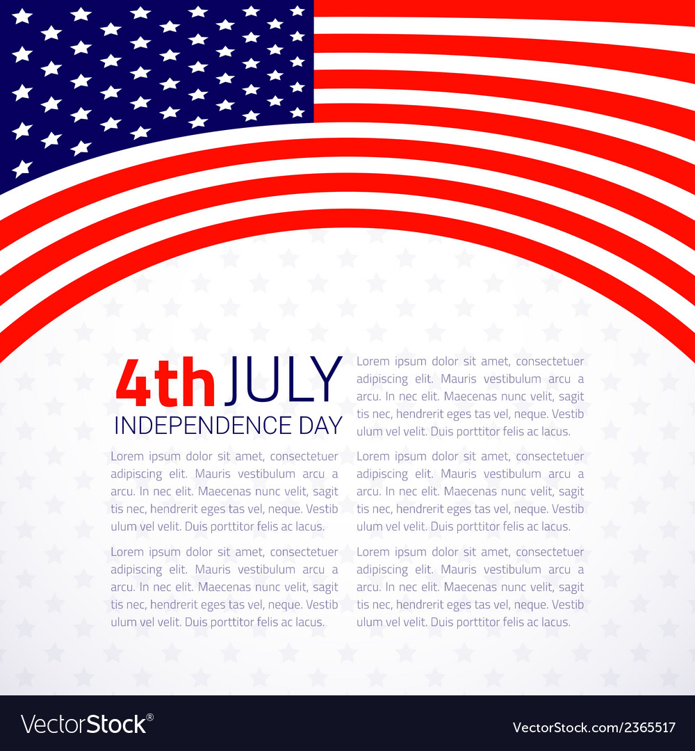 Stylish american independence day design vector | Price: 1 Credit (USD $1)