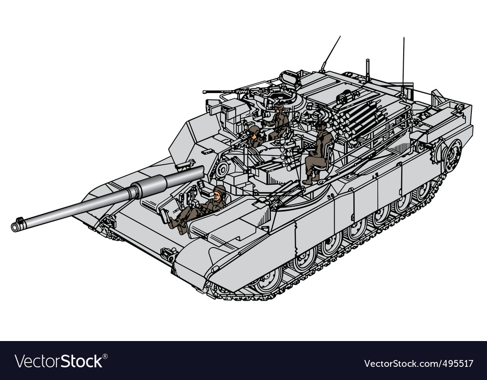 Tank abrams m1 vector | Price: 1 Credit (USD $1)