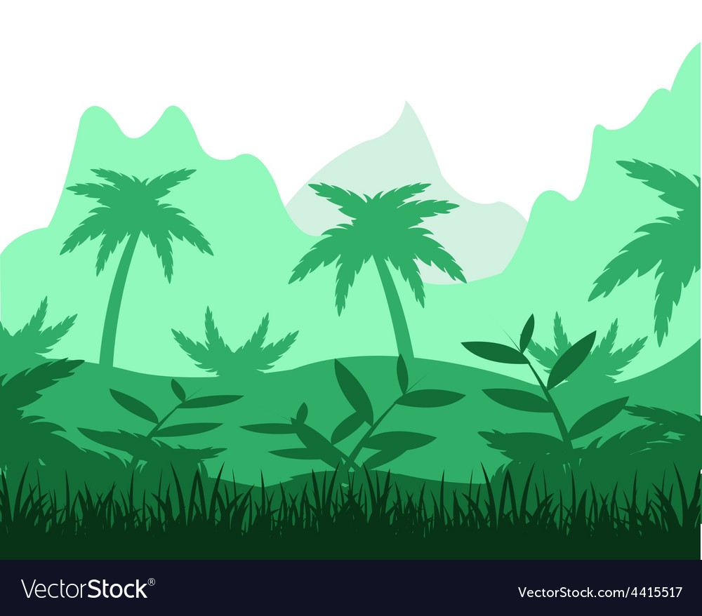 Tropical jungle vector | Price: 1 Credit (USD $1)