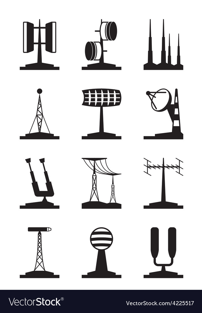 Various antennas and locators vector | Price: 1 Credit (USD $1)